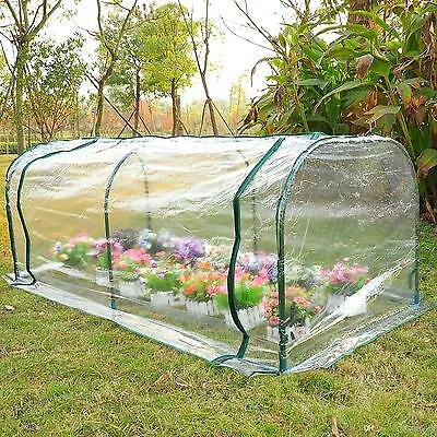 Outdoor 7'x3'x2.6' Portable Transparent Greenhouse Gardening Flower Plant Tunnel