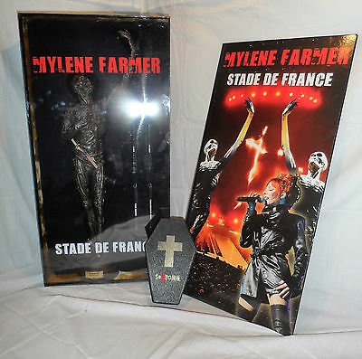 lots de 2 super coffrets collector statue + sextonik  MYLÈNE FARMER stade france