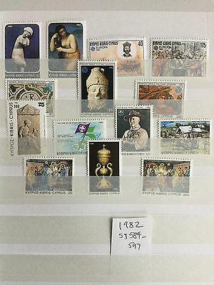 Cyprus Stamps 1982 sg584-597 UMMint