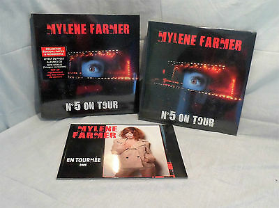 lot collector N°5 ON TOUR MYLENE FARMER coffret + album vinyle + livre concert
