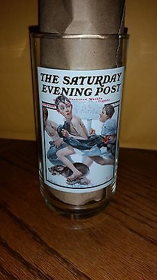 ARBY'S NORMAN ROCKWELL THE SATURDAY EVENING POST No Swimming GLASS