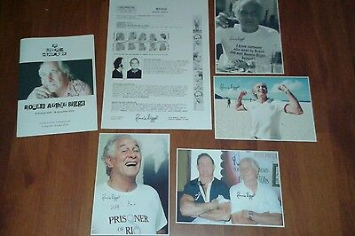 Ronnie Biggs Funeral Booklet. Wanted Poster & Signed Pictures. Villian. Crime.