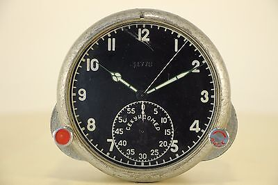 Used Soviet AirForce Cockpit Clock 59CP / 59 ChP Russian MiG/Su jets AChS.