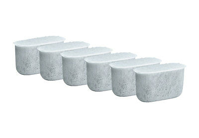 6 Pack Charcoal Water Filters, Fits Cuisinart Coffee Makers DCC-1200, DCC-1250