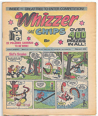 Whizzer and Chips 29th May 1976 (top grade) Sid's Snake, Odd-Ball, Loser...