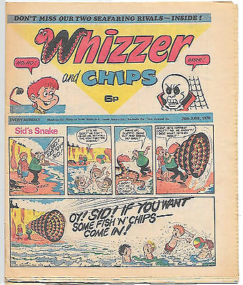 Whizzer and Chips 26th June 1976 (top grade) Sid's Snake, Odd-Ball, Loser...