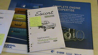 Escort RS MK1  historic escort twin cam workshop manual and a cd of the same.