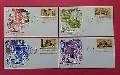 US FDC 1971 Historic Preservation  Lot Of 4