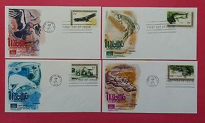 US FDC 1971 Wildlife Conservation  Lot Of 4