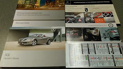 Used 2009 Mercedes Benz Slk Owners Manual And Pouch(Excellent Condition)