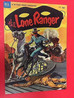 Dell Comics - Lone Ranger # 58 - Western Comic  - Nice Grade - Painted Cover