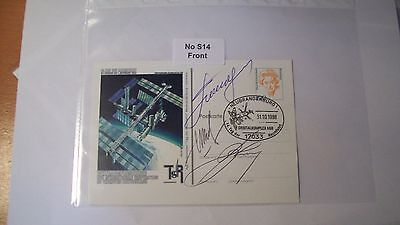Cosmonaut Autographs Personally Hand Signed From an Old Collection, ref NoS14