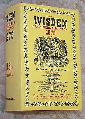 Sought after 1978 WISDEN Cricketers' Almanack Hard Back Book