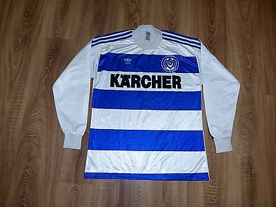 MSV Duisburg Germany 80s Adidas West Germany ultra rare home shirt size L
