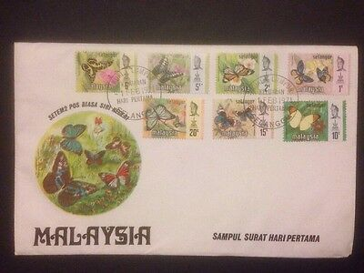 Selangor - 1971 Butterfly Cover With Leaflet (a160)