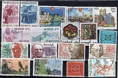 Norway, 1986, Complete Set, Short Partial Minisheet, Vf