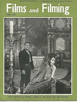 Films and Filming April 1957 Cary Grant  Sophia Loren in The Pride & the Passion