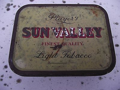 Collectors Players SUN VALLEY Light tobacco TIN used