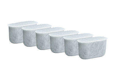 6 Pack Charcoal Water Filters, Fits Brew Central Cuisinart Coffee Makers
