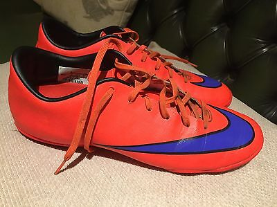 Nike Mercurial football boots, astros, size 8, good used cond