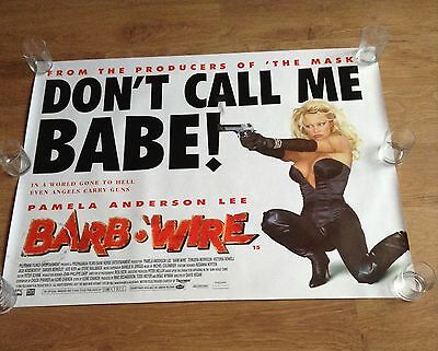 "BARB WIRE Original Cinema Quad Poster 30"" X 40"" Pamela Anderson 1996 Collectable"