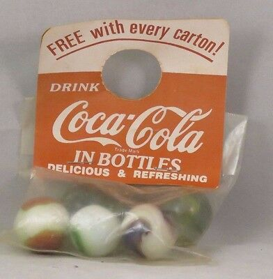 Coca-Cola, Coke Collector's Marble Set, 6 marbles, 1950's, in original package