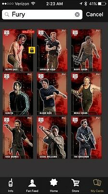 Topps Walking Dead Card Trader Red Fury Series 1 Set W/ Award