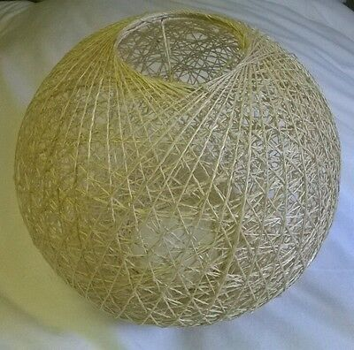 Round Woven Light/Lamp Shade in Natural NWOT