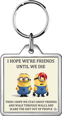 Keyring Minion Character Friends Die Ghosts Walk Walls Scare People Funny Humour