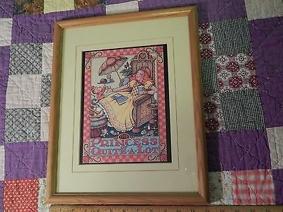 "(1983) Mary Engelbreit Ink (12x15) Framed Print - ""The Princess of Quite-A-Lot"""