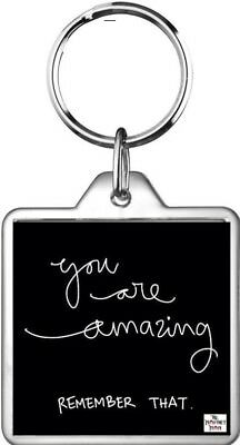 Keyring Self Esteem Amazing Perfect Remember Life Lesson Quote True Key Ring