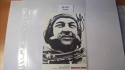 Cosmonaut Autograph Personally Hand Signed From an Old Collection, ref NoS31
