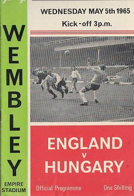 1965 England v Hungary Wembley Stadium