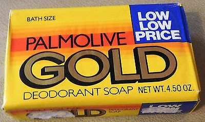 Vintage Sealed Palmolive Gold Deodorant Soap 4.5 OZ Bar