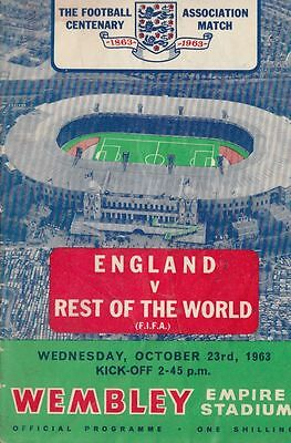 1963 England v Rest of the World FIFA Wembley Stadium