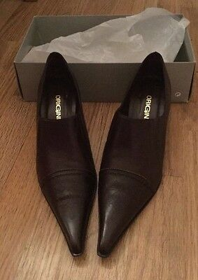 Ladies origine Pointed brown shoes size 7