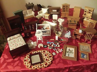Dollhouse Miniature HIGH END FURNITURE ALL ROOMS WOOD WOW