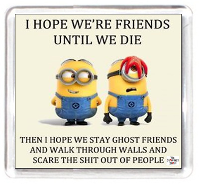 Fridge Magnet Minion Character Friends Die Ghosts Walk Walls Scare People Funny