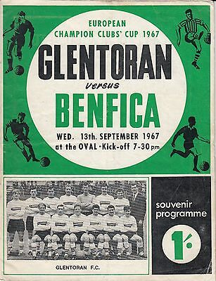 1967 Glentoran v Benfica European Cup Northern Ireland Portugal