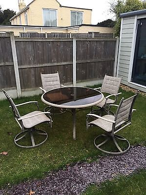 Large Round Glass Garden Table And Chairs