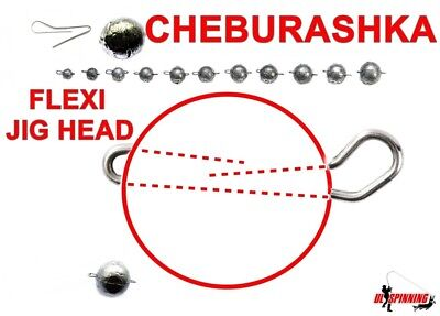 JIG HEAD CHEBURASHKA 5Pcs SINKER WEIGHT DROP SHOT FLEXIBLE HOOK FOR SOFT BAIT