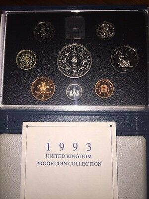 United Kingdom Royal Mint 1993 Proof Coin Collection £5 Coin - Cased With COA