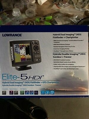 Lowrance Elite 5 HDI with GPS