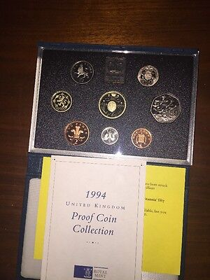 United Kingdom Royal Mint 1994 Proof Coin Collection - Cased With COA D-Day 50p
