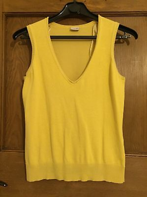 Women's Knitted Vest, Yellow, Small