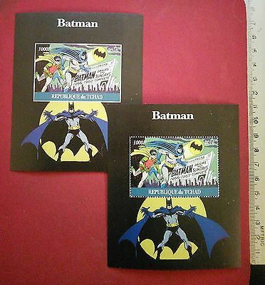 new Batman & Robin DC comics Super Heroes stamps Souvenir Sheet 2016 MNH GIFT