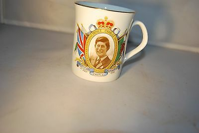 Investiture Of The Prince Of Wales Mug 1969  22ct gold gilding