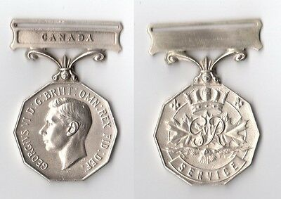 Solid Silver GVI Canadian Forces Decoration