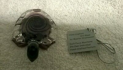 Handmade Purple Glass Turtle Ornaments made in New Zealand