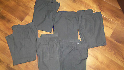 Six Pairs Of Black School Trousers Age 7-8 Years
